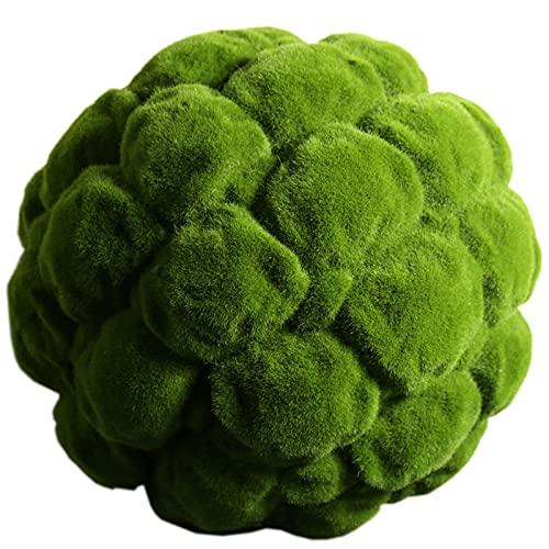 Casi natural Planta artificial, decoración de la pared colgante de fiesta, bola de musgo verde natural, peso ligero, superficie superficial 3in, 4in, 5in, 6in, 8in, 12in, 16in, 20in Sustituto del árbo
