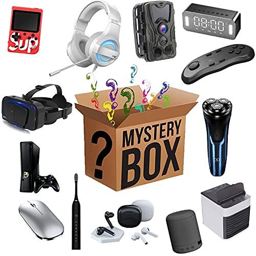 Mystery Box Productos electrónicos, Mysterious Random Products 2 Piezas, una Lucky Box para Regalo Sorpresa, si Eres más Afortunado, Puedes Obtener 3 Productos
