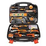 Conjuntos de herramientas para el hogar Socket Wrench Hammer 106 pieza Kit de herramientas de reparación de casa Juego de herramientas de la mano de la casa general con caja de almacenamiento de plást