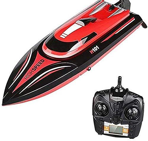 WANTOOSE RC Stiefele High Speed 2,4 GHz, 26-30 KM H, 180 ° Flip, Niederspannungsalarm, 390 Fernbedienung System Elektrische Boat Race für Kinder