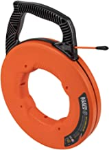 Klein Tools 56383 Fish Tape, Multi-Groove Fiberglass Wire Puller with Nylon Tip, Optimized Housing & Handle, 100-Foot
