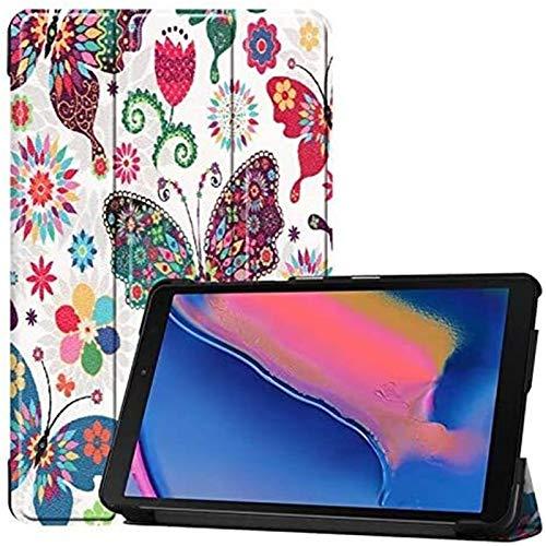 LYB Cajas De Tabletas para Samsung Galaxy Tab a 8.0 Inch, Búho Mariposa Flor Dandelion Eiffel Tower Design Smart Tablet Funda Stand Stand, Modelo SM-P200 / SM-P205 (Color : 6)