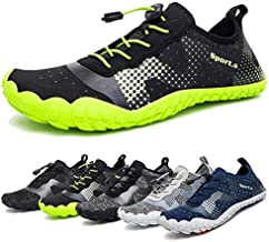 Water Shoes for Men and Women Quick-Dry Aqua Sock Outdoor Athletic Sport Shoes for Kayaking,Boating,Hiking,Surfing,Walking (A-Black/Green, 42)