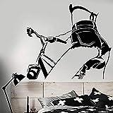 Pegatinas De Pared Pegatina De Pared Para Guardería Calcomanía De Pared De Pvc Chica Desnuda En Bicicleta Pegatinas De Cuerpo Hermoso Arte Mural Para Dormitorio Decoración De Sala De Estar 57X63Cm
