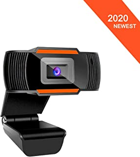 HD Webcam with Microphone,PC Laptop Desktop USB Webcams Pro Streaming Computer Camera for Video Calling/Recording/Conferencing/Gaming Web Camera with Rotatable Clip
