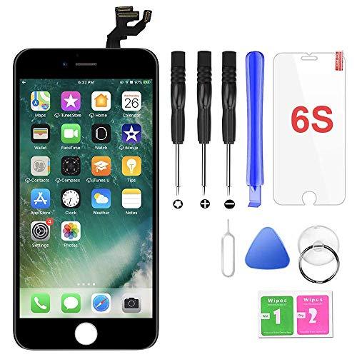Ecran LCD Vitre Tactile Complet sur Châssis pour iPhone 6s Noir avec Outils Bouton Home Écouteur Interne Caméra De Face Tout Assemblé