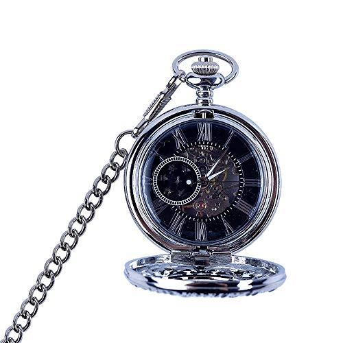 Lwieui Reloj de Bolsillo Reloj de Bolsillo mecánico Retro Vintage Noble Skeleton Steampunk for Hombre (Color : Photo Color)