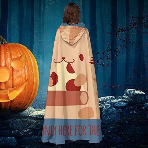 AISFGBJ Kitty Is Only Here For The Pizza - Disfraz de caballero de bruja con capucha para disfraz de vampiros