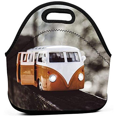 Tragbare Lunch-Tasche,Reißverschluss-Einkaufstasche-Schulbüro Picknick Wiederverwendbare Neopren-Handtasche Für-Vw Bus Bento-Tasche