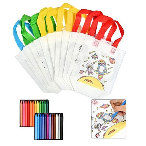 WOWOSS Set Bolsas de Tela para Niños, 12 Bolsas para Colore