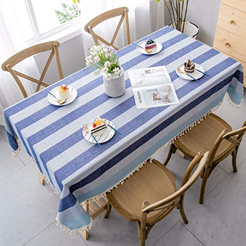 HTUO Tablecloth Christmas Decoration Kitchen Living Room Table Cover Thicken Cotton Linen Table Cover Dining Table Rectangular Tablecloth Coffee Table Polyester Rectangle 140 * 300cm