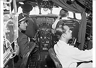 Media Storehouse A2 Poster of Lockheed Constellation Cockpit (1569955)