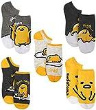 Gudetama Ladies and Juniors 5 Pk (5 Pairs) No Show Socks