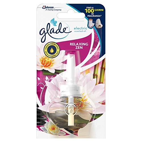 Glade Diffusore di Oli Essenziali Elettrico, Ricarica, Fragranza Relaxing Zen, Confezione da 1 Ricarica, 20 ml