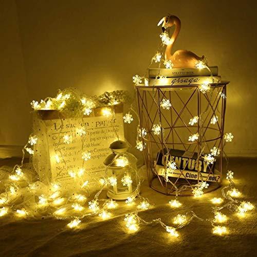 LED Lichterkette, LED String licht, Schneeflocke LED Lichterkette, Wasserdicht Lichterkette, LED String Light zur Festival, Party, Zuhause sowie Garten, Balkon, Terrasse, Fenster