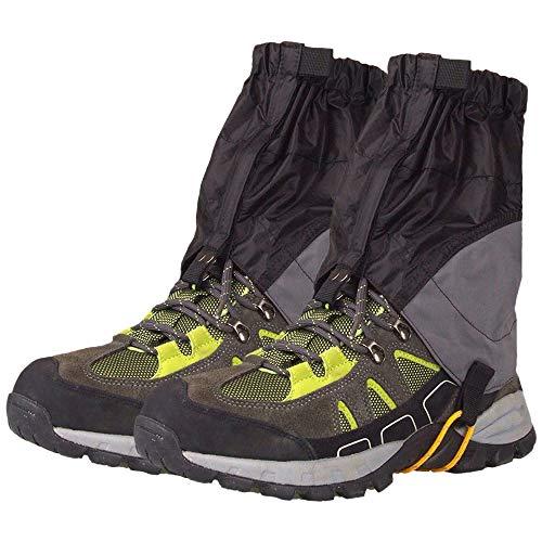 Roeam Gamaschen, Outdoor Silikonbeschichtet Überschuhe Wasserdicht Ultraleicht Gamaschen Beinschutzbügel für Schneetag Wandern Klettern Radfahren