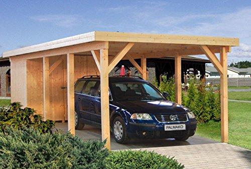 Carport Halesia H19 naturbelassen - 120 x 120 mm Pfostenstärke, Grundfläche: 27,40 m², Flachdach