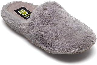 Slippers - Pantofole da donna, invernali, autunno, colore: grigio
