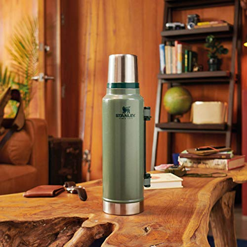 Stanley Classic Legendary Bottle BPA Free Stainless Steel Thermos-Hot for 40 Hours, Matte Black, 1.4L