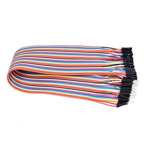 ACAMPTAR 40x 30cm Male-Female Stecker-Buchse Jumper Wire Kabel Steckbruecken Drahtbruecken