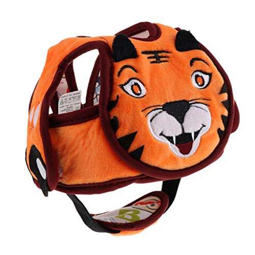 KESOTO Baby Helm verstellbar Helmet Kopfschutz Mütze Sicherheitshut gegen Stöße beim Krabbeln, Spazierengehen, Laufen oder Spielen - Tiger