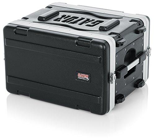 "Gator Cases Lightweight Molded 6U Rack Case with Heavy Duty Latches; Shallow 14.25"" depth, 6U (GR-6S)"