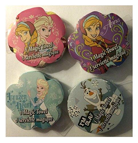 Disney Frozen Magic Toalla de Toallas (1) Anna (1) Anna & Elsa Toalla (1) Elsa Toalla (1) Olaf Toalla Bundle Set