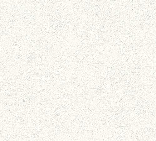 A.S. Création Vliestapete Meisterputz 15 m Tapete Alternative zur Rauhfaser Unitapete 15,00 m x 0,53 m weiß Made in Germany 337511 3375-11