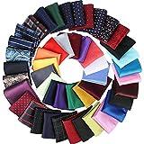 47 Piezas Pañuelos de Bosillo Cuadrados Pañuelos Coloridos Suaves de Hombres para Fiesta Boda