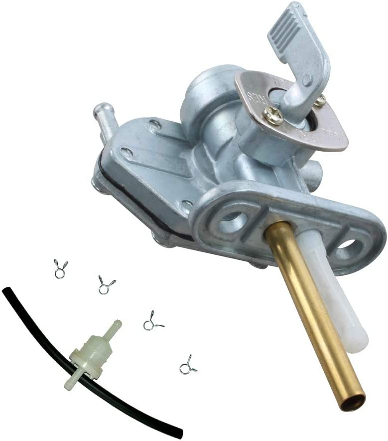 Fuel Gas Complete Free Shipping Tank Switch Financial sales sale Valve Petcock with Line Rubber fu Tube