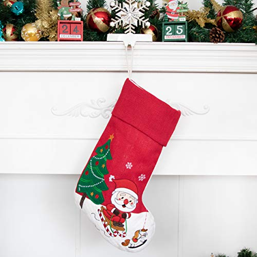 Beyond Your Thoughts Nikolausstrumpf Weihnachtsstrumpf Deko Kamin Christmas Stockings Nikolausstiefel zum befüllen und aufhängen groß Ideale Weihnachtsdekoration Weihnachtsmann