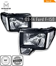 MPH 09-14 Ford F-150 BK OEM Driver & Passenger Replacement Headlights Lamps Assembly