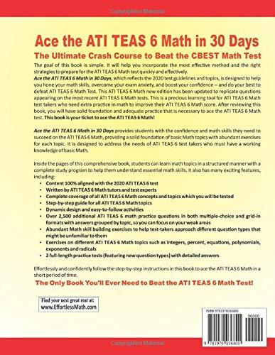 Ace the ATI TEAS 6 Math in 30 Days: The Ultimate Crash Course to Beat the ATI TEAS 6 Math Test