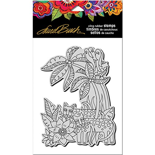 Stampendous Rubber Laurel Burch Stamp, Leopard Jungle