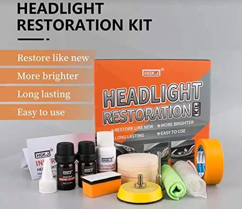 HGKj Scheinwerfer Aufbereitung Set | Scheinwerfer-Fresh | Polierset | Plexiglas Politur
