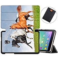 MAITTAO Slim Smart Case For Samsung Galaxy Tab A 8.0 2017 T380/T385, Folio Leather Stand Cover with Auto Sleep/Wake for Galaxy Tab A 8.0 Inch Tablet SM-T380/SM-T385, Akhal-Teke Horse 8