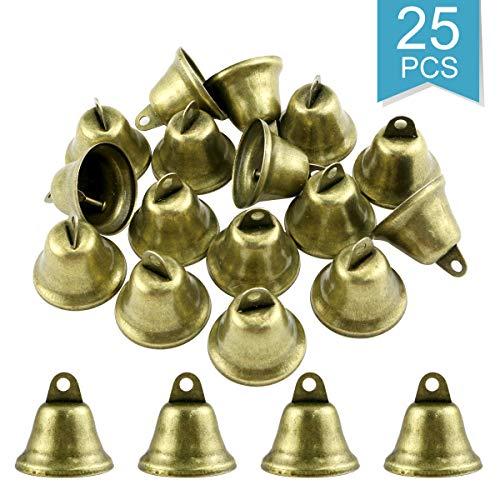 ARTIBETTER 20pcs Bronze Jingle Bells Vintage Craft Bells for DIY Wind Chimes Making Housebreaking Dog Potty Training Hanging Decoration