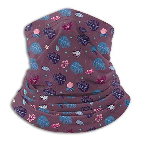 Lzz-Shop Multifunktionstuch Bandanas Schal,Schlauchtuch,Kopftuch,Stirnband,Tuch Halsschlauch Palmblätter und fremde Pflanzen