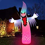 Angela&Alex Halloween Inflatable Decorations, 12 Ft Tall Ghost Inflatables Outdoors Giant Large Halloween Decor Built-in Led Lights with Tethers, Stakes for Yard, Garden, Lawn Festival Holiday Party