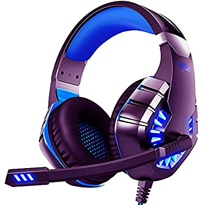 Gaming Headset With Microphone For Laptop/Xbox One/PS4/Nintendo Switch/PC Noise Cancelling Headphones With LED Light 40 mm Speak Driver 360° Stereo Surround from Ovleng