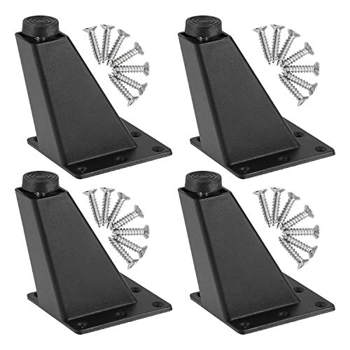 4 Möbelfüße zur einfachen Montage Dreieck Möbelfüße, Aluminiumlegierung möbelfüße Einstellbare Möbelfüße, Sofa Beine Schränke Möbelfüße Küche Füße Frühstück Bar Schreibtisch Tischbeine(Schwarz)