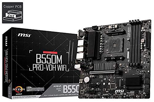 MSI B550M Pro-VDH WiFi - Placa Base Pro Series (AMD Ryzen 3000 3rd Gen AM4, DDR4, M.2, USB 3.2 Gen 1, Front Type-C, Wi-Fi, HDMI, Micro ATX) (Reacondicionado)