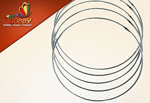 Rayher metalen ring, gecoat. 50 cm zilver