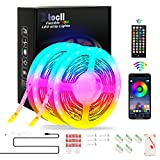 TOCLL 10m Led Strip Lights Bluetooth APP with 40-Keys IR Remote Color Changing