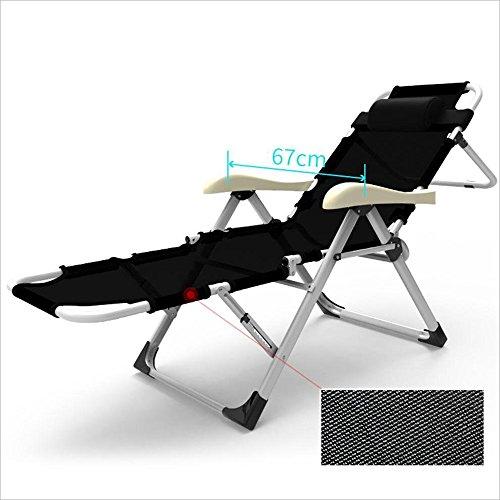 Chaises pliantes Xiaolin Bureau déjeuner Chaise Paresseux Chaise de Plage Chaise de Couchage Balcon Maison (Couleur : 01)