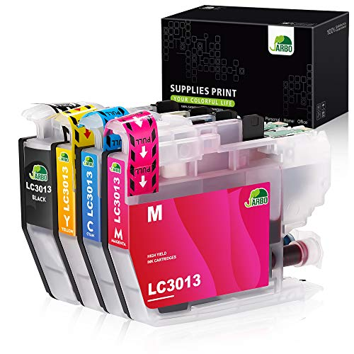 JARBO Compatible Ink cartridges Replacement for Brother LC3013 LC-3013 LC3011 LC-3011, 1 Set, Compatible with Brother MFC-J491DW, MFC-J690DW, MFC-J895DW, MFC-J497DW Printer (1 BK, 1 C, 1 M, 1 Y)