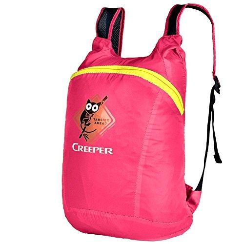 Backpack éclairage léger Sac à bandoulière/Pliante Fixation Sac d'alpinisme/Petit Sac à Dos d'équitation/Sac Skin-Rose Rouge 20L