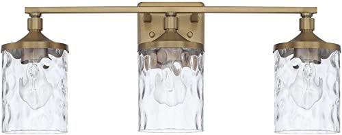 discount HomePlace 128831AD-451 Colton Vanity, new arrival 3-Light 300 online Total Watts, Aged Brass online