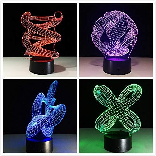 Nachtlicht Touch Base abstrakte Spirale Glühbirne Lampe Nachtlicht Tisch Illusion Hause Stehtisch Dekoration Lava Lampe