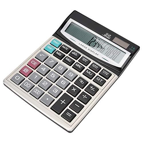 Calculator met grote knoppen op zonne-energie, automatische 3-cijferige rekenmachine voor het markeren van het blijvende teken, voor Office Finance